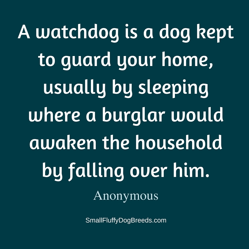 A watchdog is a dog - Anonymous funny quote about dogs